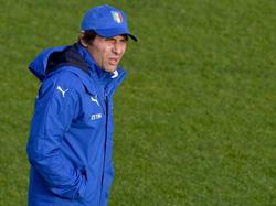 Antonio Conte steht vor der Partie der Italiener gegen Spanien im Fokus