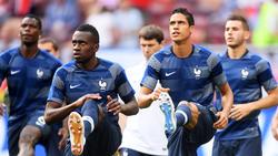 Raphaël Varane (re.) und Blaise Matuidi (li.) sind gegen Deutschland einsatzfähig