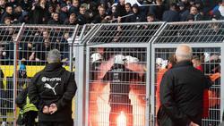 Am Wochenende sorgten Hertha-Fans für Krawalle in Dortmund. Foto: Bernd Thissen