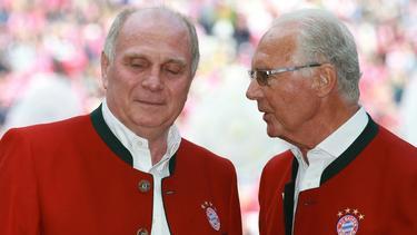 Wechsel ins Schauspielleben? Hoeneß (l.) und Beckenbauer