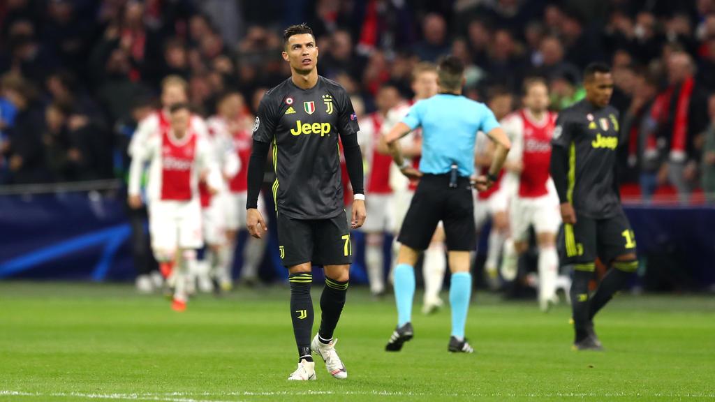 Cristiano Ronaldo musste sich mit Juventus Turin mit einem Unentschieden begnügen