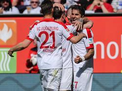 El Augsburgo goleó al Hamburgo. (Foto: Getty)