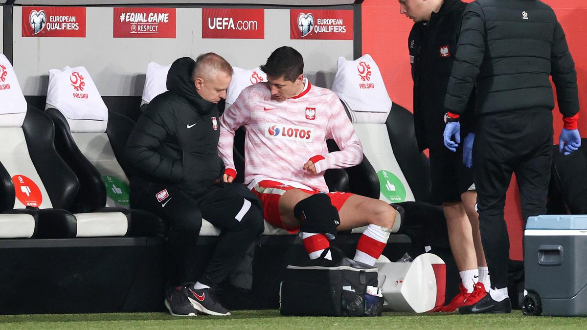 Robert Lewandowski zog sich eine leichte Knieverletzung zu