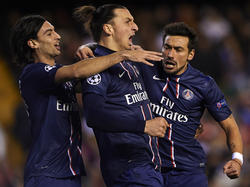 Das Pariser Starensemble um Zlatan Ibrahimovic reist als haushoher Favorit zum RSC Anderlecht
