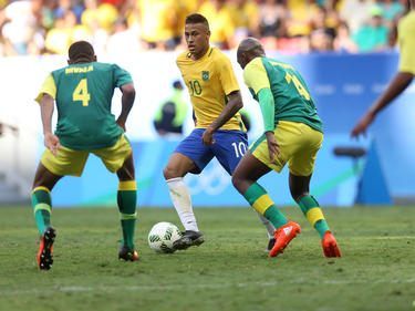 Neymar intentó todo para que Brasil ganara a Sudáfrica. (Foto: Getty)