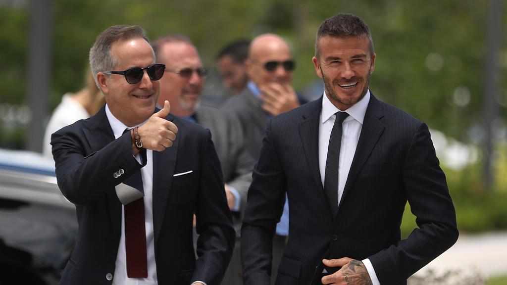 David Beckham (r.) freut sich über neue Entwicklungen seines Klubs