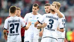 Die Spieler der TSG 1899 Hoffenheim wollen endlich den ersten Sieg in der Champions League verbuchen