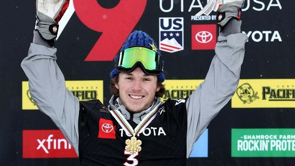 Chris Corning gewinnt die Goldmedaille im Slopestyle