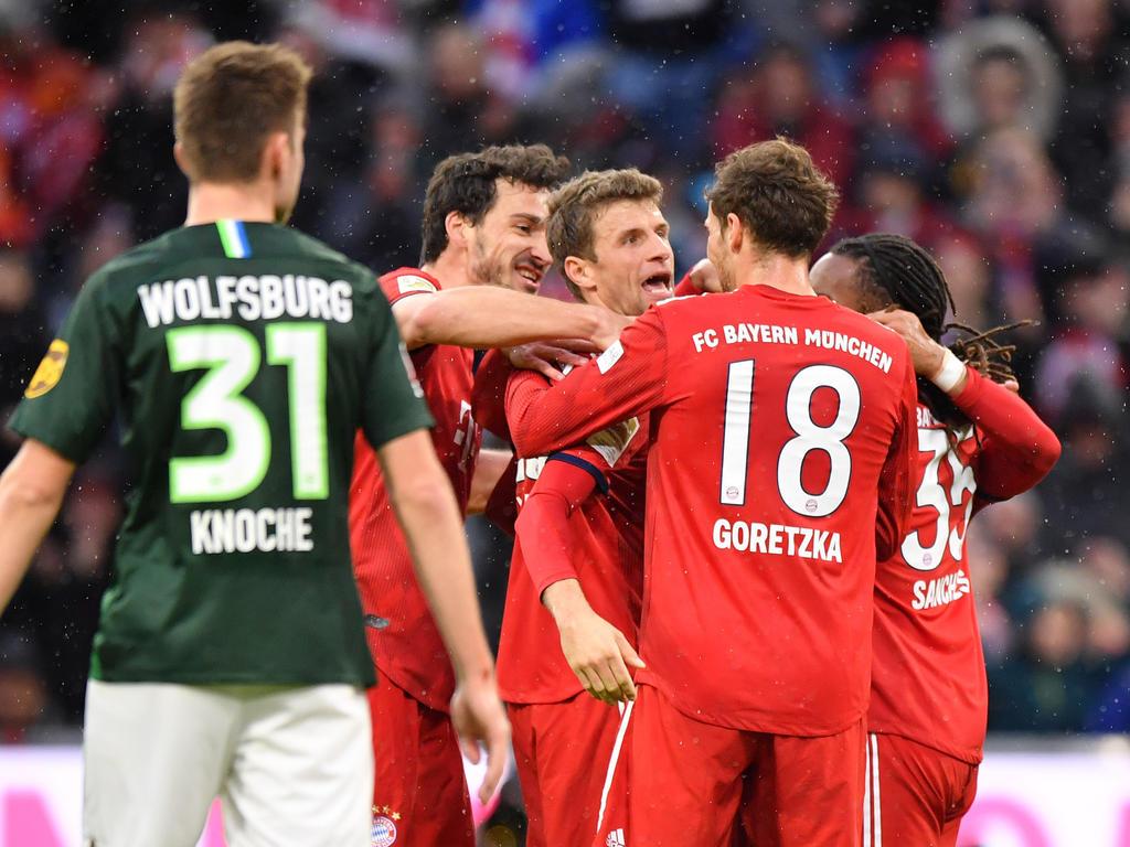 Schützenfest der Bayern gegen Wolfsburg