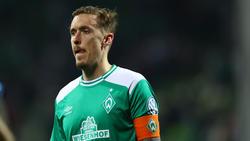 Droht Werder Bremen im Saison-Endspurt auszufallen: Kapitän Max Kruse