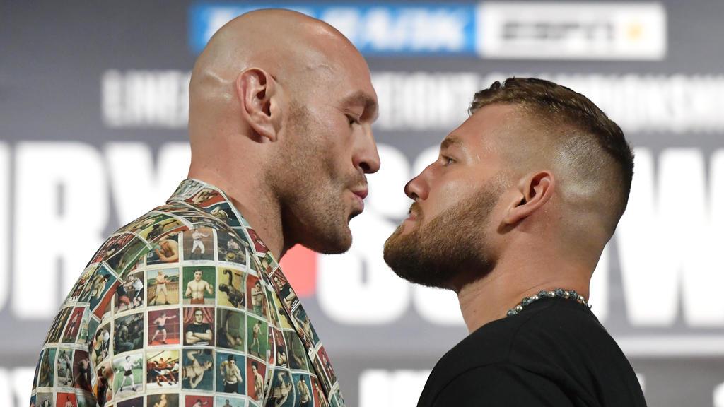 Tom Schwarz (l.) kämpft in Las Vegas gegen Tyson Fury