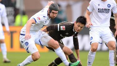 Der Karlsruher SC setzte sich gegen den FCSt. Pauli durch