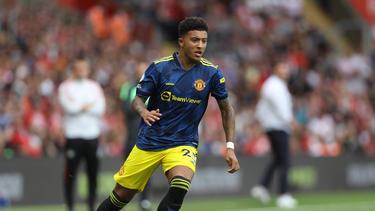 Jadon Sancho war vom BVB zu Manchester United gewechselt