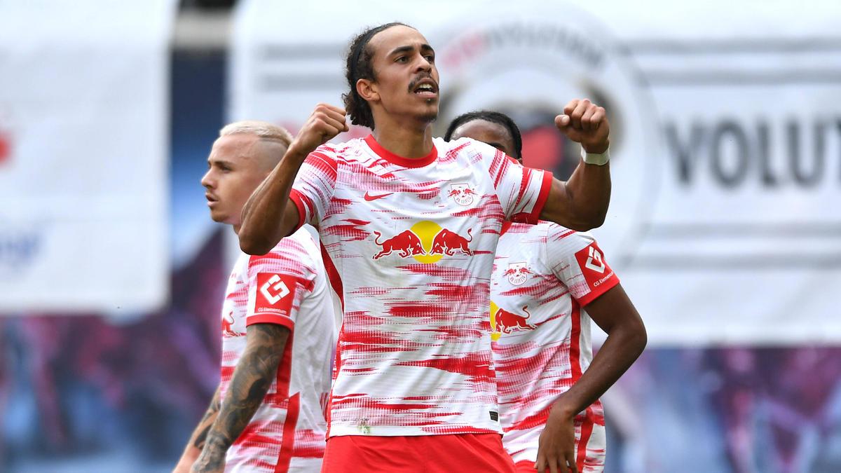 Yussuf Poulsen erzielte das 2:0 für RB Leipzig