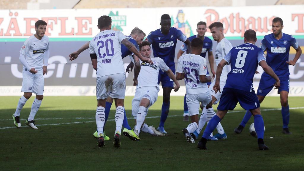Kein Sieger im Duell zwischen dem KSC und dem VfL Osnabrück