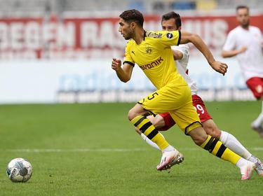 Achraf Hakimi en un partido de esta temporada.