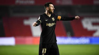 Lionel Messi konnte am Ende doch noch jubeln