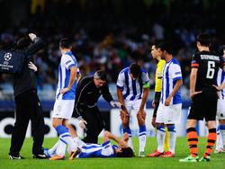 Esteban Granero krümmt sich vor Schmerzen am Boden