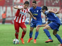 Omar Elabdellaoui (l.) spielt mittlerweile für Olympiakos Piräus