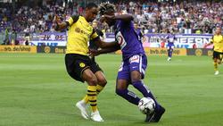 Abdou Diallo (l.) lieferte ein überzeugendes Debüt im BVB-Trikot ab