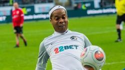 Ronaldinho gab sich in Frankfurt die Ehre