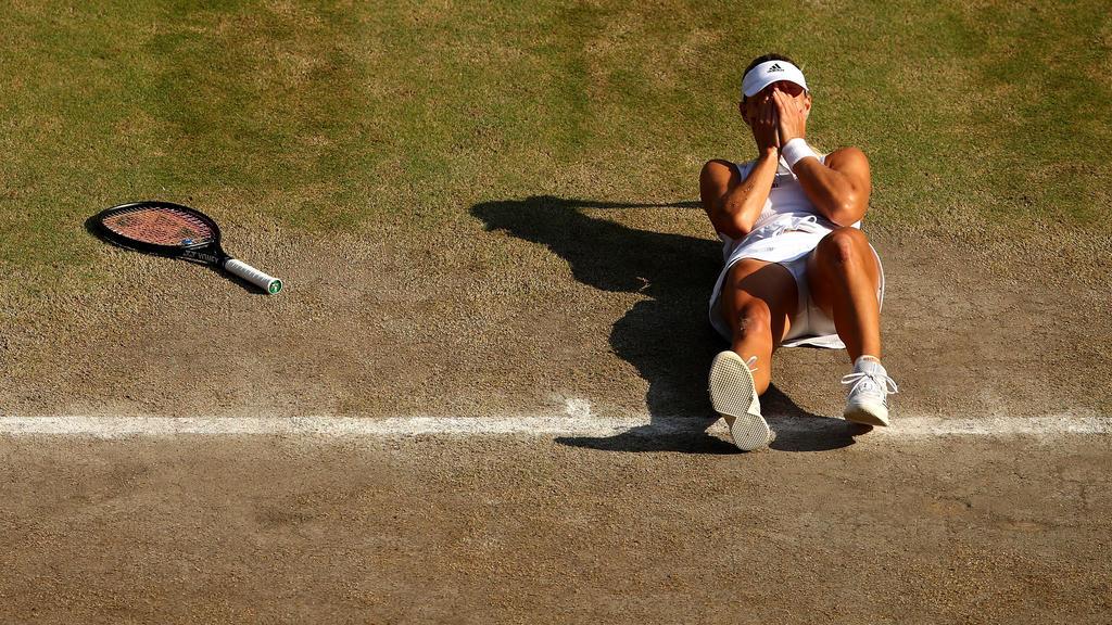Angelique Kerber in Wimbledon am Ziel ihrer Träume