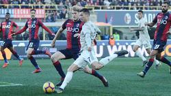 Cristiano Ronaldo blieb gegen Bologna blass