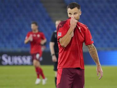 Haris Seferovic en una imagen reciente con Suiza.