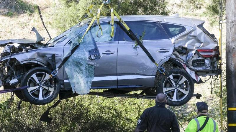 Der SUV von Tiger Woods wies schwere Schäden auf