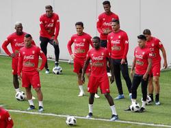Sesión de entrenamiento de Perú en el día de ayer en Moscú. (Foto: Imago)
