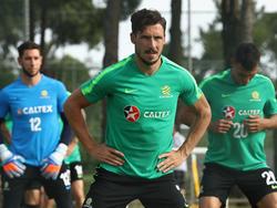 Mathew Leckie (M.) beim Training der Australier