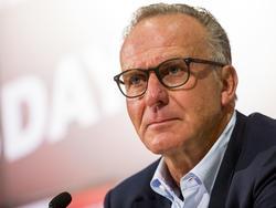 Karl-Heinz Rummenigge war nicht glücklich mit der Leistung gegen Frankfurt