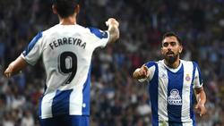 Borja Iglesias con el Espanyol en Europa League.