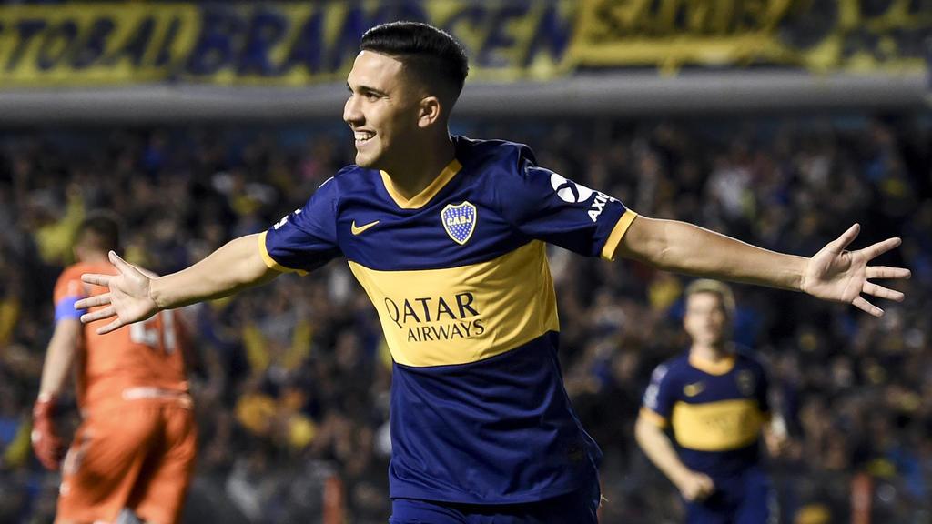 Reynoso marcó el gol del triunfo de Boca.
