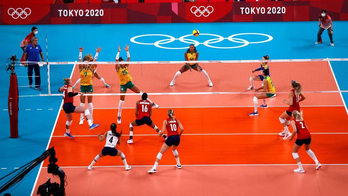 Das US-Team siegt gegen Brasilien