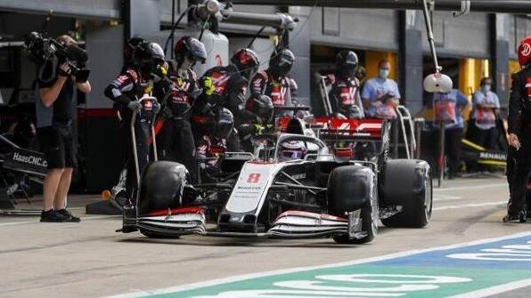 Über 33 Sekunden dauerte Romain Grosjeans Boxenstopp in Silverstone