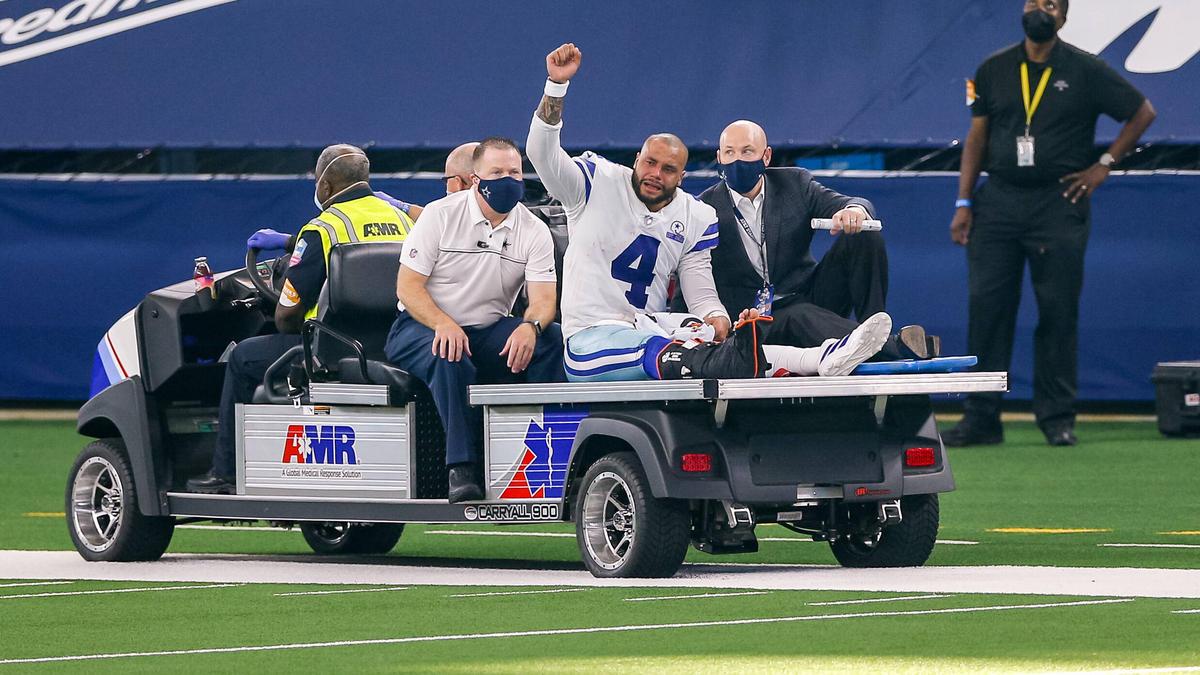 Dak Prescott von den Dallas Cowboys verletzte sich schwer