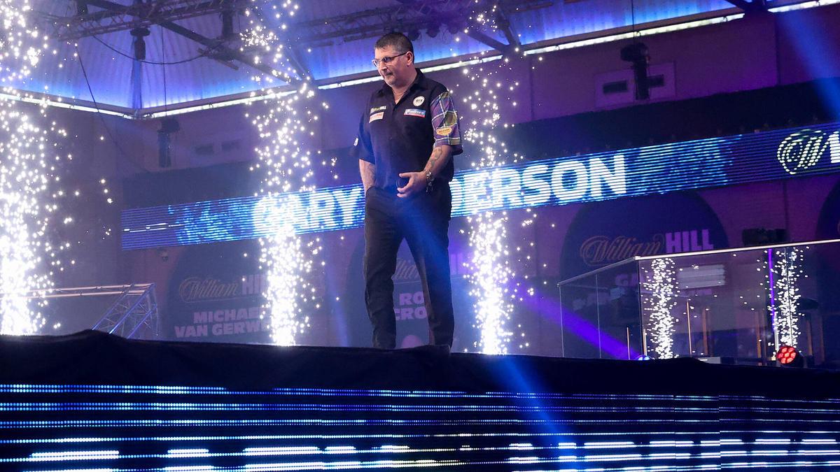 Gary Anderson steht im Finale der Darts-WM