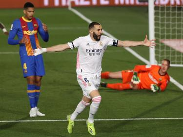 """Reals Karim Benzema jubelte über ein Traumtor und den """"Clásico""""-Sieg"""