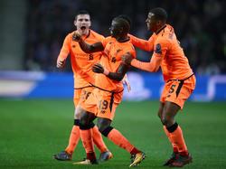 Sadio Mané (mi.) traf bei Liverpools Kantersieg in Porto dreifach