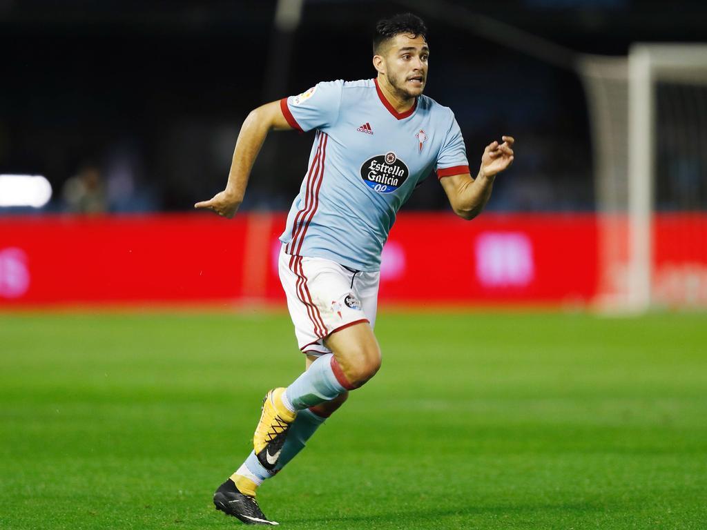 Maximiliano Gómez en un partido de esta temporada con el Celta. (Foto: Imago)