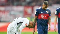 Eine Szene aus 2017: Kevin-Prince Boateng (l.) und sein Halbbruder Jérôme Boateng stehen sich in der Bundesliga gegenüber
