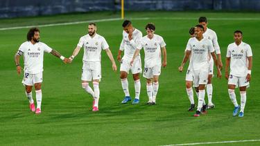 El Real Madrid solventó el encuentro en la primera mitad.
