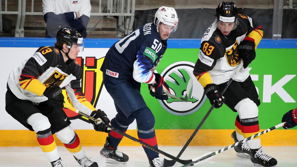 Die deutsche Eishockey-Auswahl musste sich den USA klar geschlagen geben