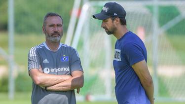 Tim Walter (l.) hat beim HSV als Cheftrainer übernommen