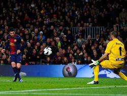 David Villa erzielt das 1:0 für den FC Barcelona