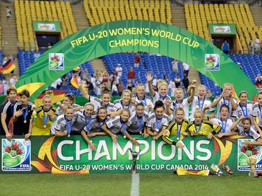 Weltmeister 2014 - Deutschlands U20-Frauen feiern in Kanada