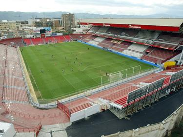 Estadio de La Condomina de Murcia, actual campo del UCAM, que vivió el derbi local. (Foto: Imago)