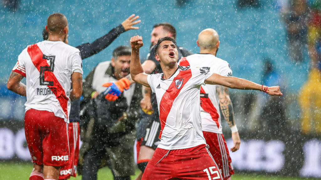 Nach dem Schlusspfiff kannte die Freude bei River Plate keine Grenzen