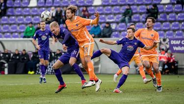 Erzgebirge Aue und der SV Darmstadt spielten unentschieden